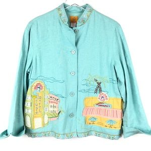 RubyRd 8 Rare Beach Town Embroidered Jacket